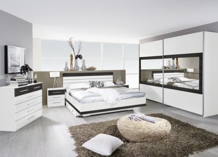Komplett-Schlafzimmer TARRAGONA (4-teilig) alpinweiß / Wenge shiraz