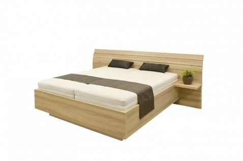 Schwebendes Bett Rielle Breit 120x200 Eiche Weiß