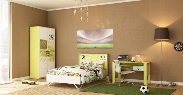 Fußball Jugendzimmer inklusive Lattenrost Football 3-teilig