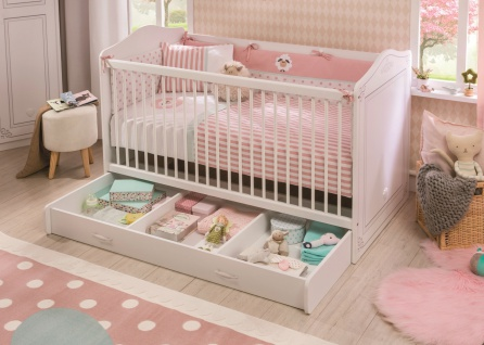 Cilek Selena Babyzimmer komplett in Weiß 5-teilig - Vorschau 2