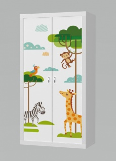 Kinder Kleiderschrank Phil Animals 2-türig