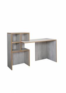 Schreibtisch Pearl White mit offenen Fächern
