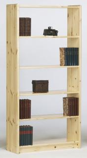 Bücherregal in Kiefer Natur Romana fünf Fächer