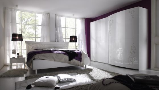 Schlafzimmer-Set Cilia 4 teilig Weiß