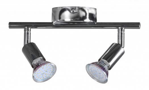 2 flammig LED-Strahler Deckenleuchte Strahler Spotsystem LED Wandlampe Lampe Spot (EEK: A+) - Vorschau 2