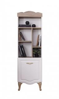 Weltew Bücherregal Balat mit Tür in Creme Soft-Close