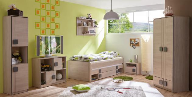Jugendzimmer Mery 6-teilig in Natur mit Matratzen