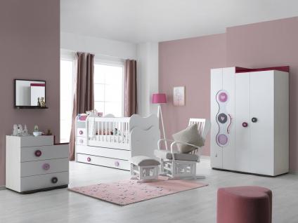 Baby Kinderzimmer Set 4-teilig Point Young in Weiß