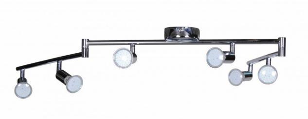 6er LED-Strahler Deckenleuchte Spotsystem LED Schienensystem / Gelenksystem Lampe Spot (EEK: A+) - Vorschau 3