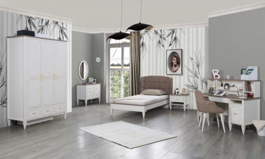 Jugendzimmer komplett Belli 6-teilig mit Bett 100x200