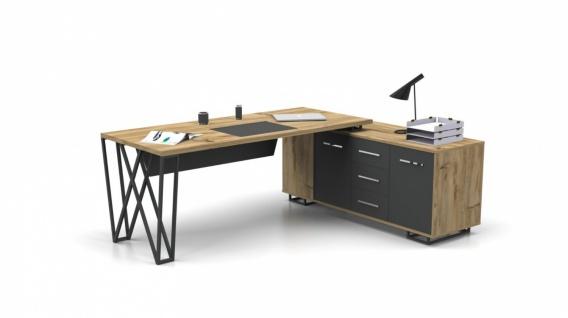 Büro Schreibtisch in L-Form Window 180x80 - Vorschau 1