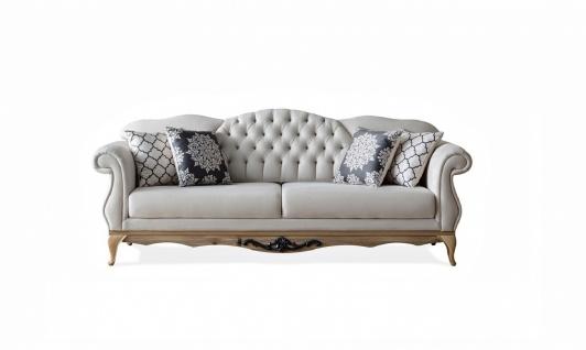 Barock Sofa mit verstellbarer Lehne Balat Creme