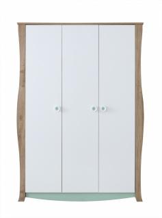 Kinderzimmer Kleiderschrank Loop Baby 3-türig in Weiß