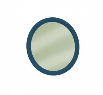 Wandspiegel rund Elegant Blue 70x70 mit Rahmen