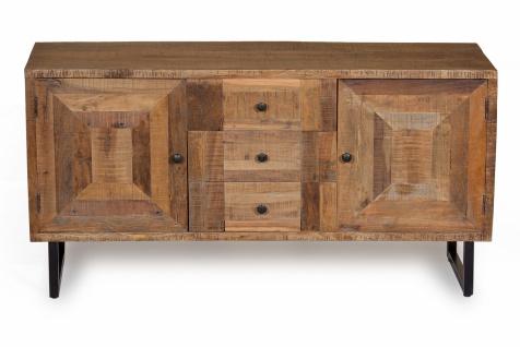 Sideboard aus recyceltem Teakholz Parquett