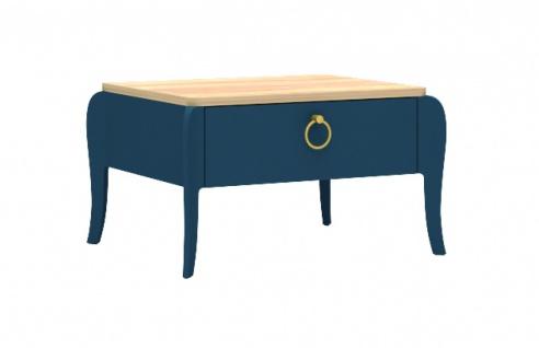 Design Nachttisch Elegant Blue mit Schubkasten