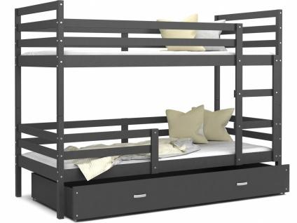 Etagenbett mit Bettkasten Grau Rico 90x200