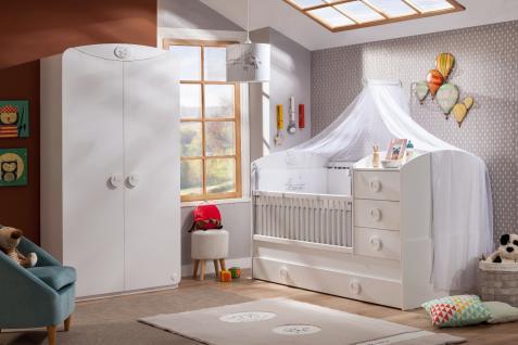 Cilek Baby Cotton Babyzimmerset 3-teilig mit Betthimmel