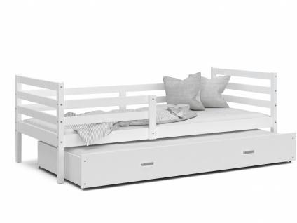 Kinderbett mit Gästebett Weiß Rico 90x200