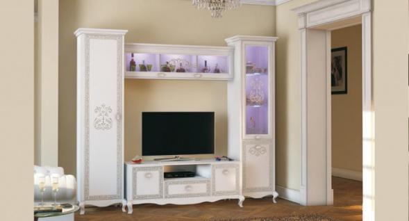 Wohnwand Lionella 4-teilig Weiß