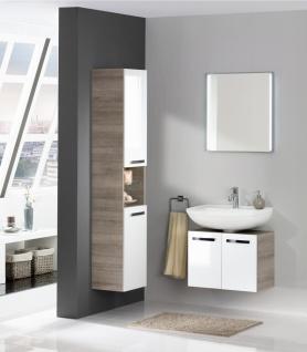 Badezimmermöbel Weiß Verena mit Spiegel