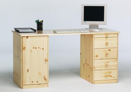 Kiefer schreibtisch massiv online kaufen bei yatego for Schreibtisch kiefer natur