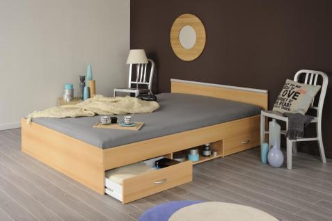 Einzelbett mit schubladen buche  Bett 140 X 200 Mit Schubladen günstig online kaufen - Yatego