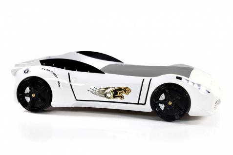 Autobett Titi Car Cat Garage mit LED und Sound Weiß