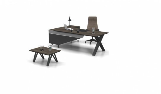 Büro Schreibtisch Cross inklusive Kommode - Vorschau 1