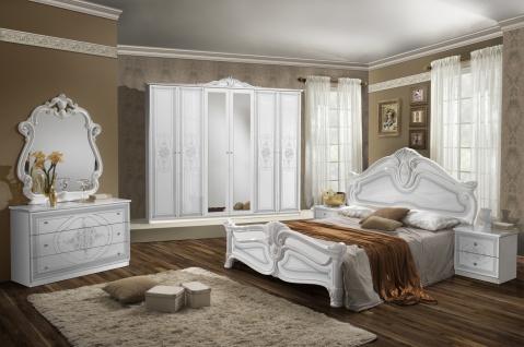 Schlafzimmer Set Weiß Malfi mit 6-türigem Schrank
