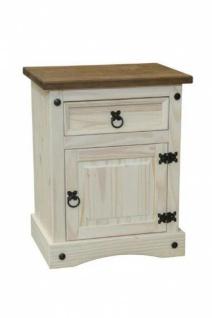 Unit Nachttisch mit 1 Tür und 1 Schublade Weiß