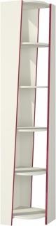 Bücherregal mit fünf Böden Sakura in Creme