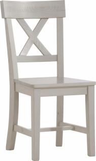 Monaco 2er Set Stühle weiss kiefer massiv