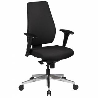 Bürostuhl Darius schwarz Stoffbezug Drehstuhl mit 3-Punkt Synchronmechanik