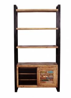 Bücherregal aus Massivholz Mox 1-türig