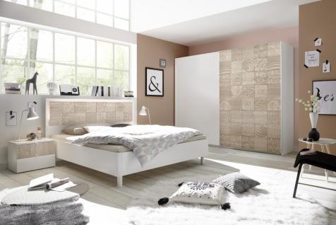 Schlafzimmer Set Weiß Sonoma Eiche Xena 4-teilig