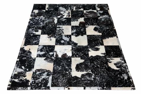 kuhfell teppich minor mit silber schwarz 200x300