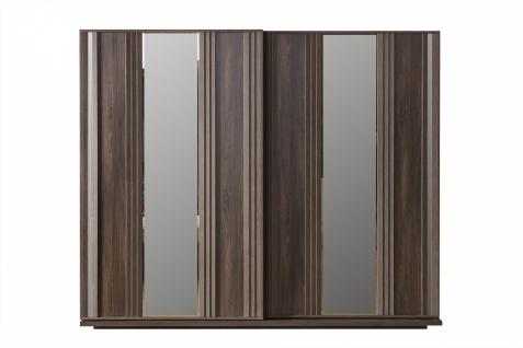 Design Schlafzimmer Set Grau Braun Aral 4-teilig - Vorschau 2