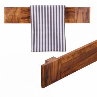 Massivholz Wand Handtuchhalter 80cm Sheesham