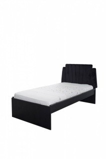 Titi Jugendzimmer Bett Lotus in 120x200 cm Schwarz