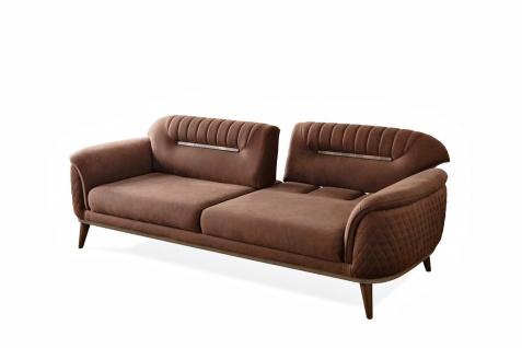 Sofa Beta 3-Sitzer mit Schlaffunktion Massivholzfüße