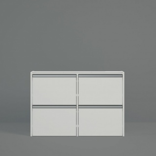 Schuhschrank in Weiß Borry klein 103x70x18