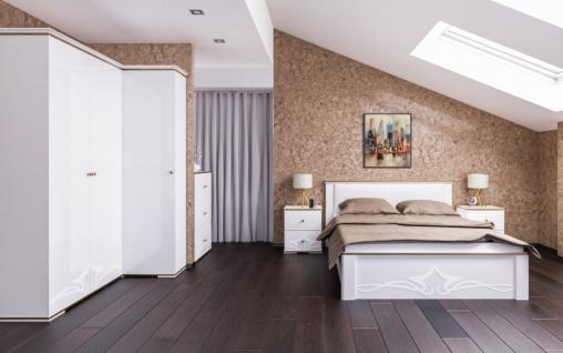 Schlafzimmer Weiß Liberty 6-teilig 180x200
