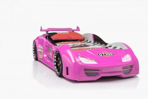 Autobett GT 999 Pink mit Türen und Fernbedienung