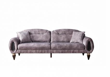 Weltew Sofa 2-Sitzer mit Schlaffunktion Lizbon Altrosa