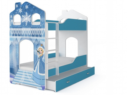 Etagenbett Fairy Eis Prinzessin mit Matratze 80x160