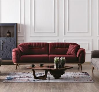 Sofa Beta 2-Sitzer mit Schlaffunktion in Rot