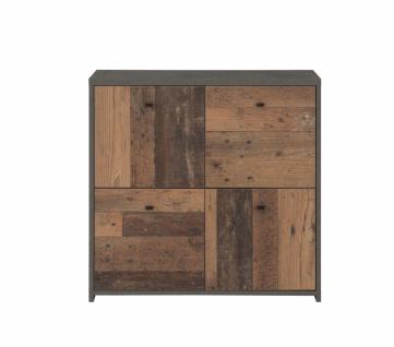 Kommode 4-türig Beton-Holz Optik Chesto