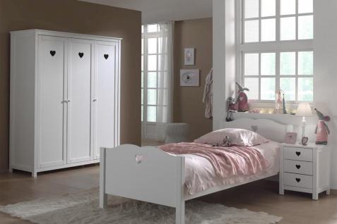 Kinderzimmer komplett Set Albin 3- teilig in Weiß MDF