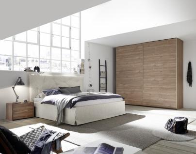 Schlafzimmer Weiß Nussbaum hell Alpaca Luana